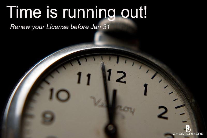 Don&#39t forget to renew your license