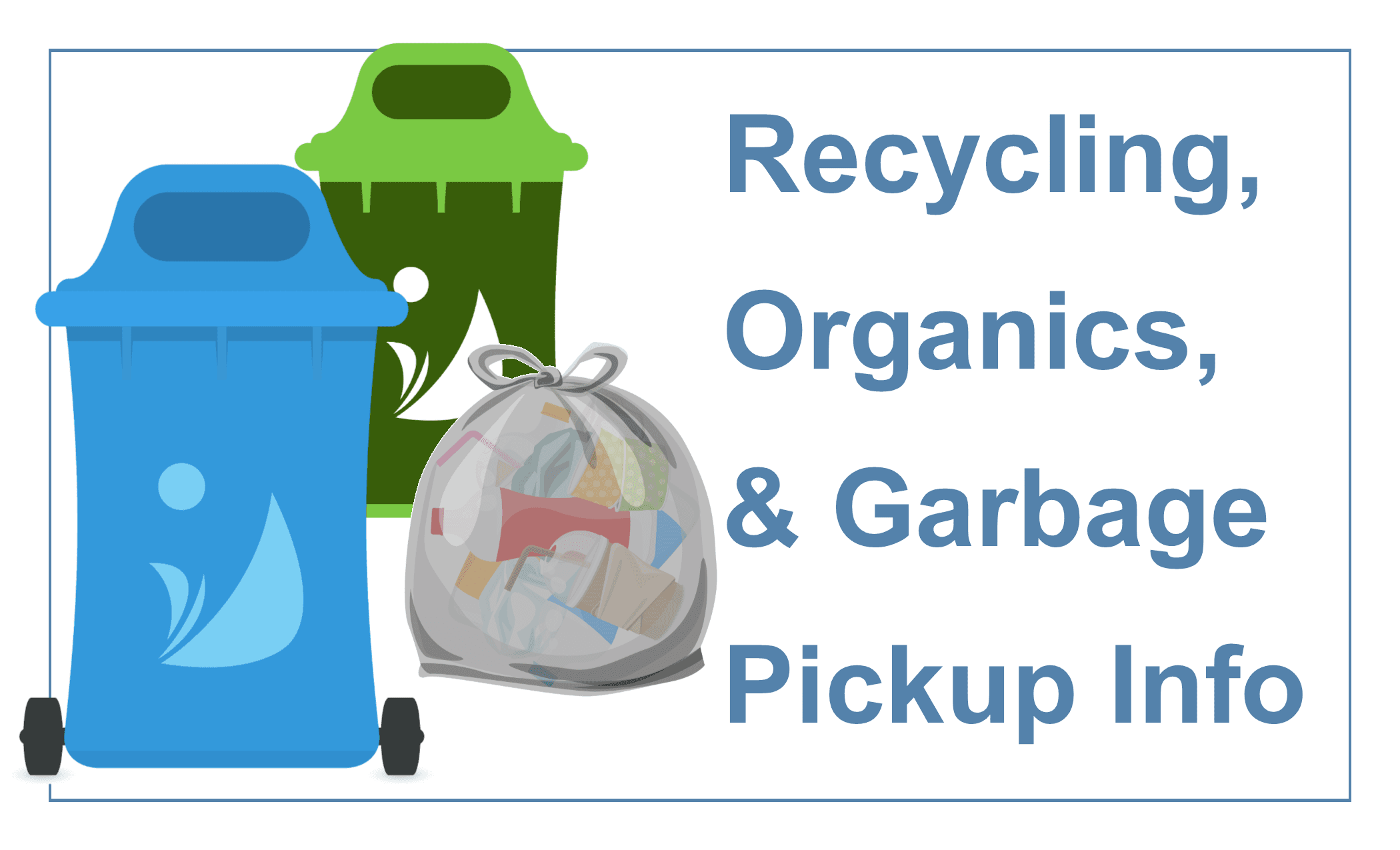 GARBAGE AND RECYCLING HOME PAGE BUTTON