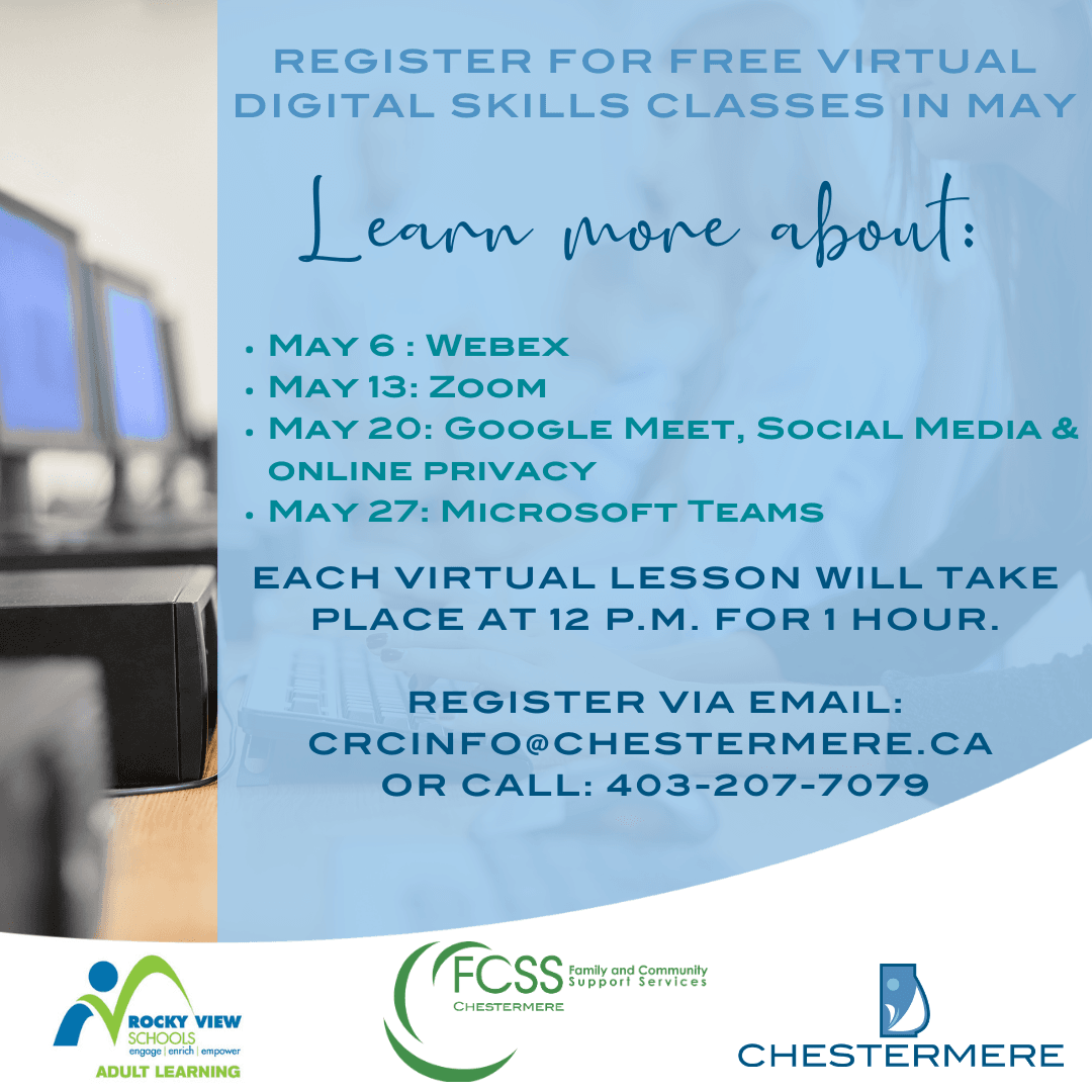 Free Digital Skills Classes Thursdays in May