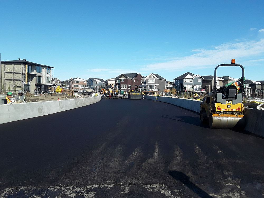 Crews completed the bridge paving on Oct. 3